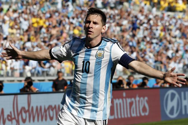 Lionel Messi Clawing Out of Maradona's Shadow at 2014 World Cup