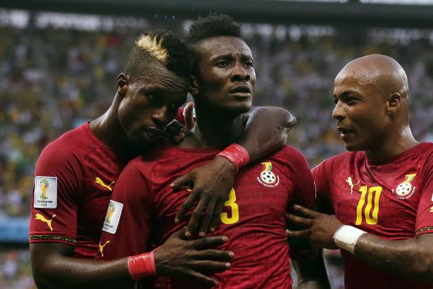 Ghana's Asamoah Gyan Becomes 1st African to Score at 3 Different World Cups