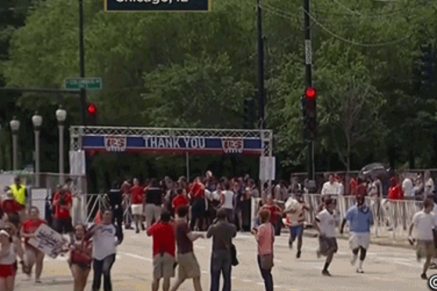 USMNT Fans in Chicago Had to Sprint for Good Spots in Grant Park