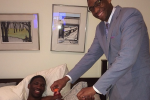 Jabari Visits Recovering Embiid, Brings Oreos