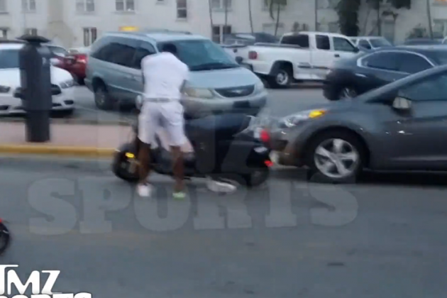 Adrien Broner Wrecks Scooter on Streets of Miami, Crashes into Parked Car