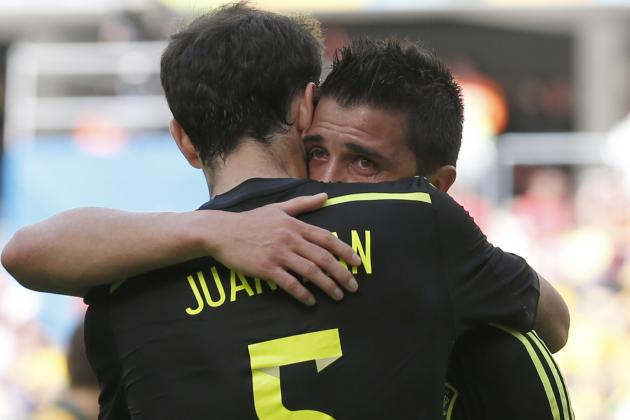Spain's David Villa Scores 9th World Cup Goal in Final International Match