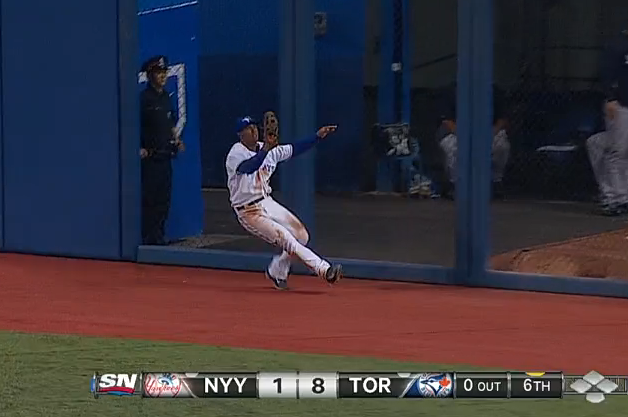 Anthony Gose Completes Great Catch vs. Yankees Despite Crashing into Wall
