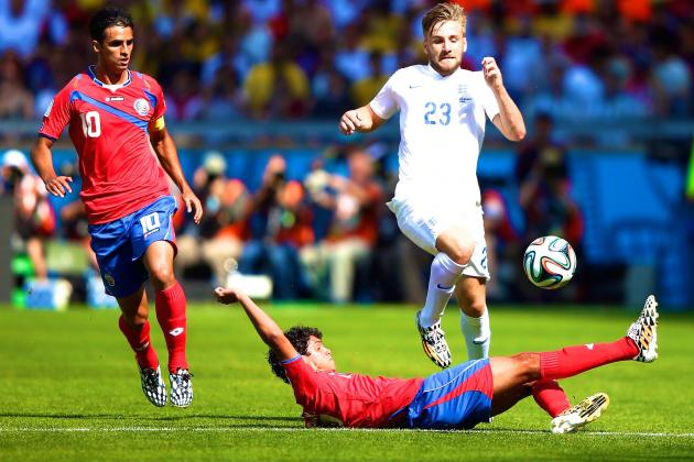 Costa Rica vs. England: Live Score, Highlights for World Cup 2014 Group D Game