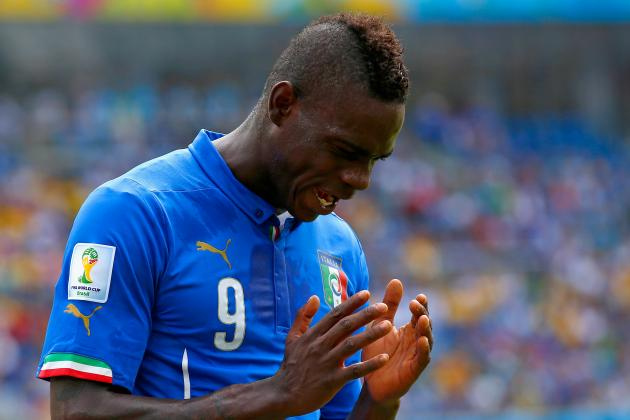 Mario Balotelli Banned 1 Match After Yellow Card vs. Uruguay