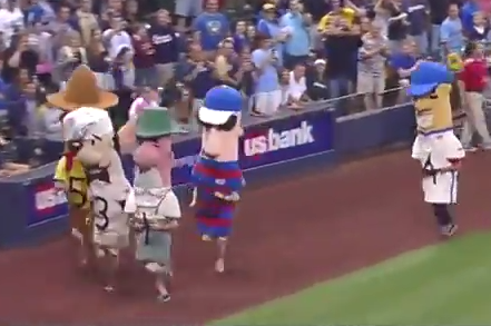 Tim Kurkjian Gets Destroyed in the Milwaukee Brewers Sausage Race