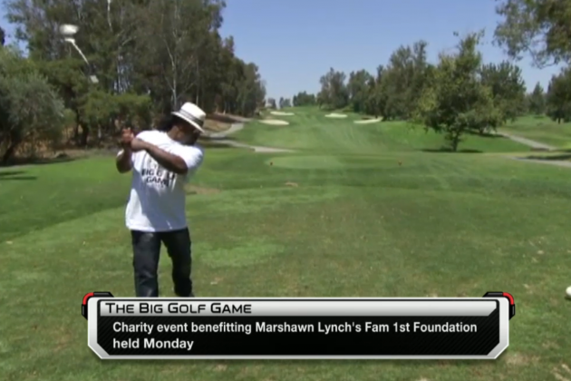 Marshawn Lynch Hits the Links for Charity, Doesn't Want to Talk Football, Boss