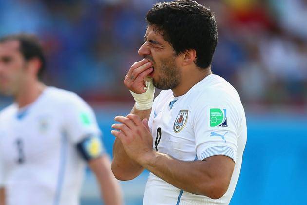 Tracking Controversy Surrounding Luis Suarez from Italy vs. Uruguay