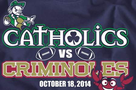 Notre Dame-Florida State Game in 2014 Dubbed 'Catholics vs. Criminoles' by Shirt