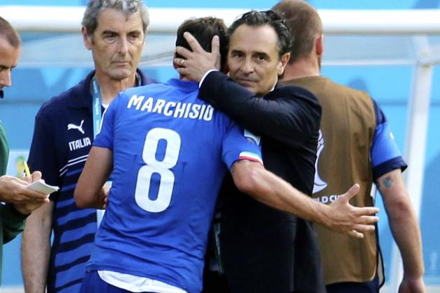 Italy vs. Uruguay: Prandelli's Tactical Adjustments Ruined by Marchisio Red Card