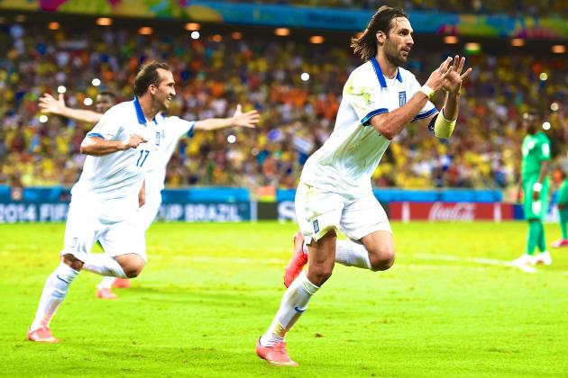 Greece vs. Ivory Coast: Live Score, Highlights for World Cup 2014 Group C Game