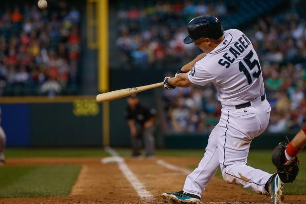 Seager Slugs Seattle Past Boston 8-2