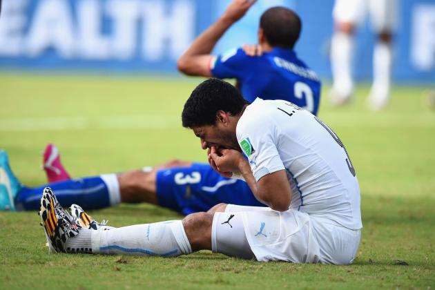 Debate: How Should FIFA Deal with Luis Suarez After Alleged World Cup Bite?