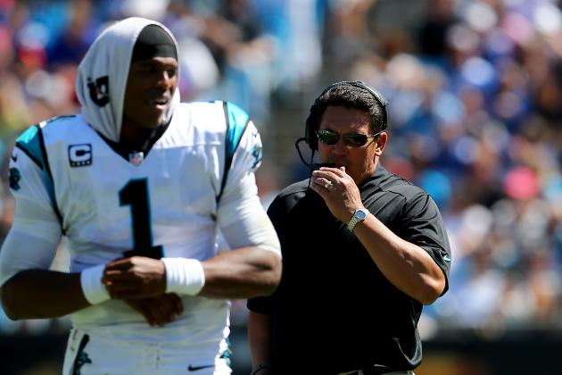 Ron Rivera Impressed with Leadership Cam Newton's Showing