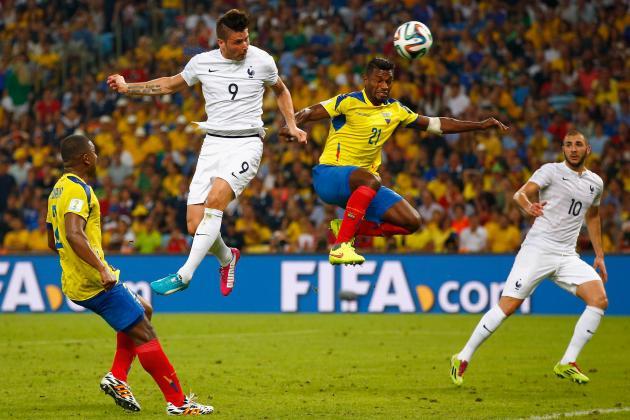 Ecuador vs. France: Final Player Ratings