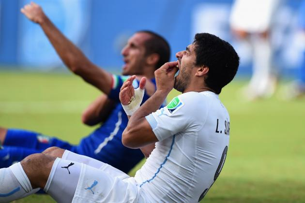 Twitter Reacts to Luis Suarez's Punishment for Biting Giorgio Chiellini