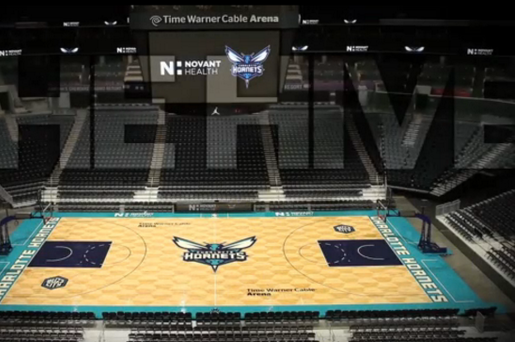 Charlotte Hornets Show off New Basketball Court at 'The Hive'