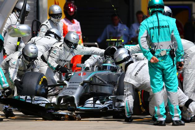 F1 Data Analysis: Nico Rosberg Has Edge on Lewis Hamilton in Mercedes Pit Stops