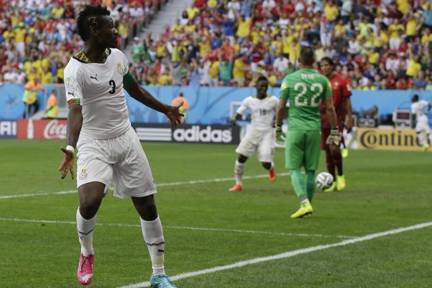 Asamoah Gyan Sets Record for Most Career World Cup Goals by an African Player