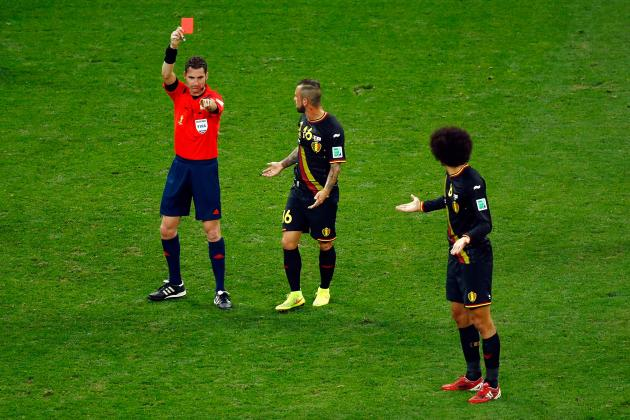 Twitter Reacts to Steven Defour's Red Card in South Korea vs. Belgium