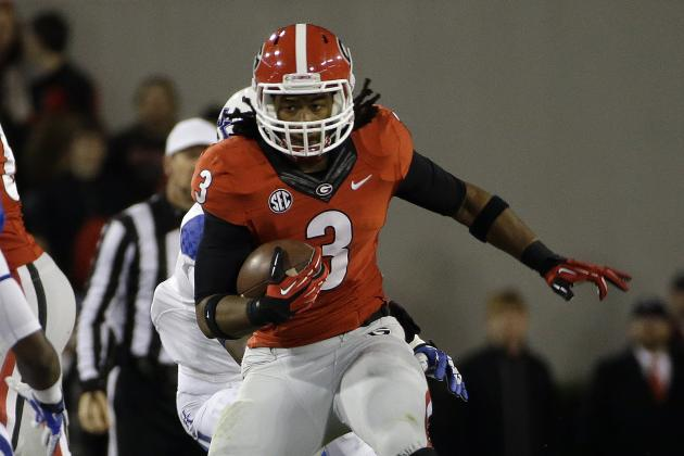 Georgia Football: Over, Under Stat Projections for Todd Gurley in 2014
