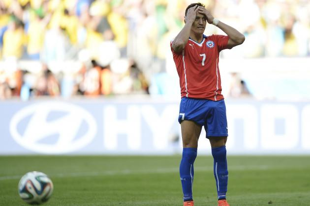 Twitter Reacts to Arturo Vidal, Alexis Sanchez Performances vs. Brazil
