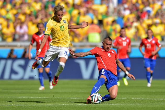 Brazil vs. Chile: La Roja's Furious Pressing & Style Not Cut out for Extra-Time