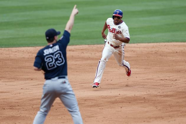 Braves Rout Phillies 10-3 in Doubleheader Opener