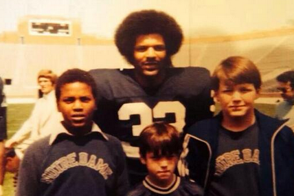 Photo: 11-Year-Old Kevin Sumlin Meets Ex Notre Dame RB Ferguson