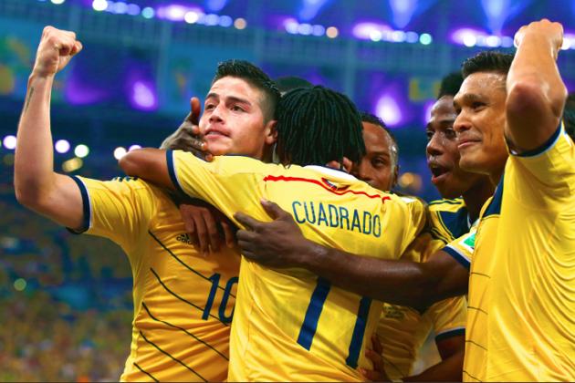 Colombia vs. Uruguay: Live Score, Highlights for World Cup 2014 Round of 16