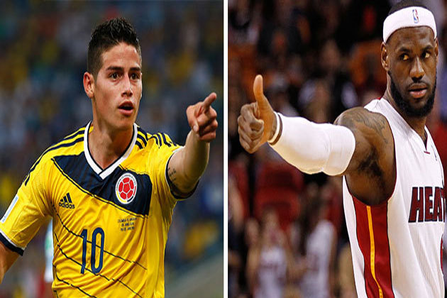 LeBron James and James Rodriguez Are Apparently Fans of Each Other