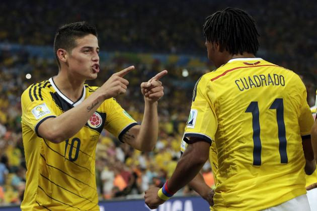 Twitter Reacts to James Rodriguez, Juan Cuadrado's Performances vs. Uruguay