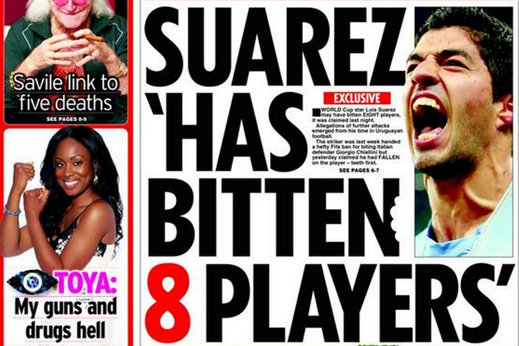 World Cup Paper Review: New Bite Claims Surround Luis Suarez