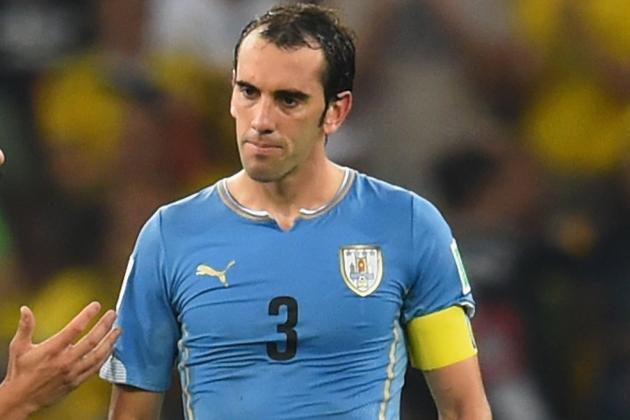 Uruguay's Godin: I Am Sad but Colombia Were Stronger