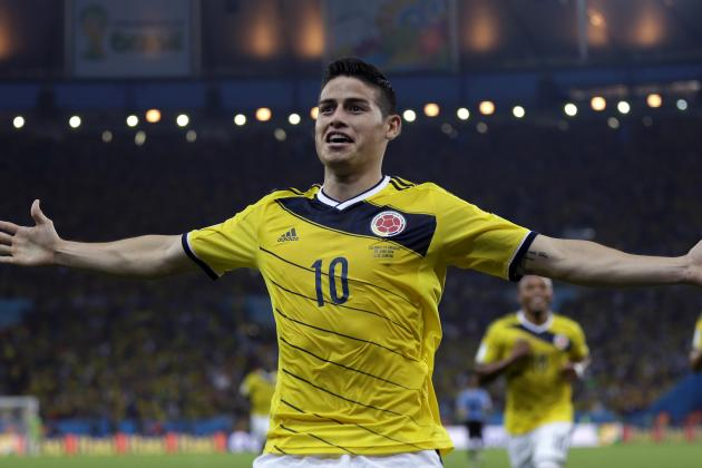 Colombia's James Rodriguez 1st Since 2002 to Score in 1st 4 World Cup Games