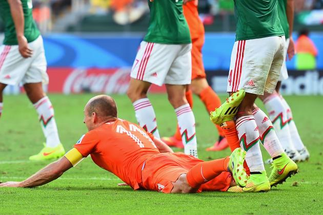 Robben Admits Diving in 1st Half