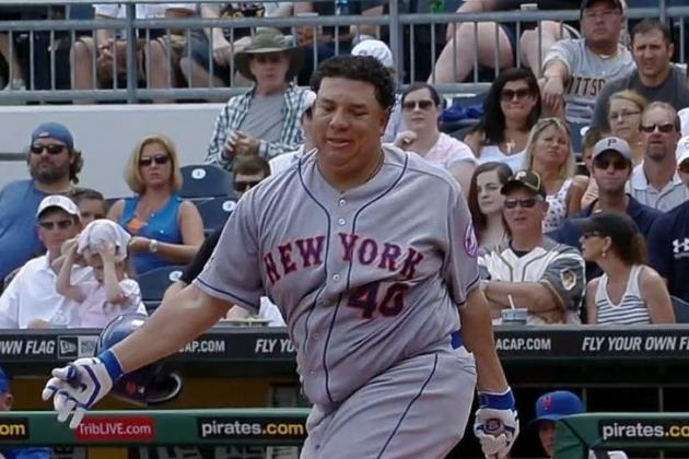 Mets' Bartolo Colon Loses Helmet Twice During At-Bat Against Pirates