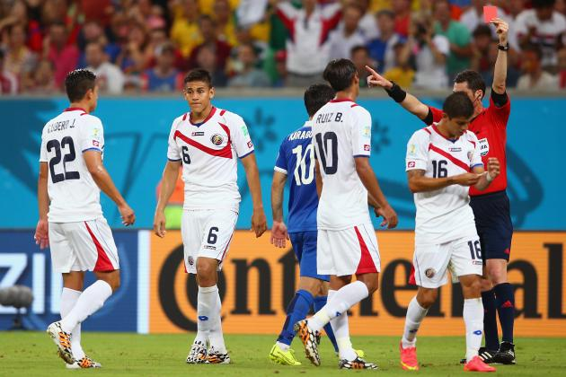 Twitter Reacts to Oscar Duarte's Red Card vs. Greece in 2014 World Cup