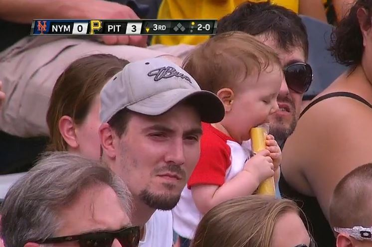 Toddler Fan Turns Pirates' Poster Giveaway into a Chew Toy