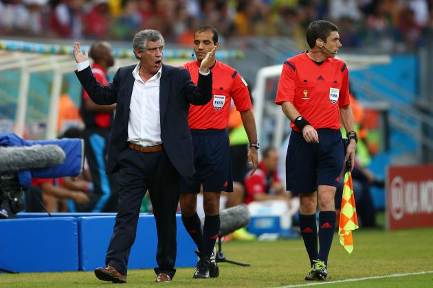 Greece Manager Fernando Santos Sent off Before Penalty Kicks vs. Costa Rica