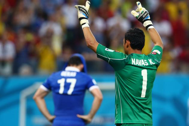 Costa Rica vs. Greece: Keylor Navas the Difference in Defensive Stalemate