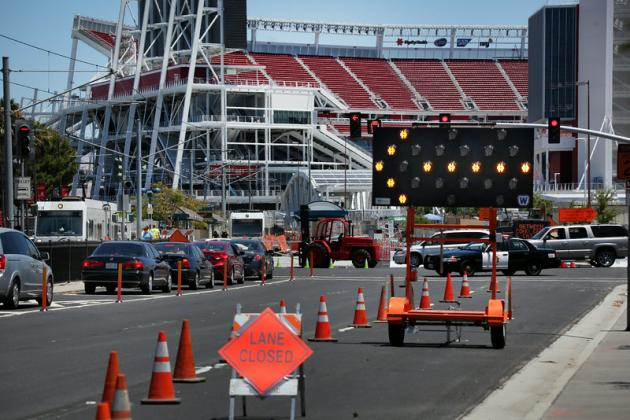 49ers Practice Levi's Stadium Event, Without Fans