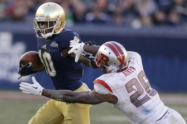 Notre Dame Football: Over, Under Stat Projections for DaVaris Daniels in 2014