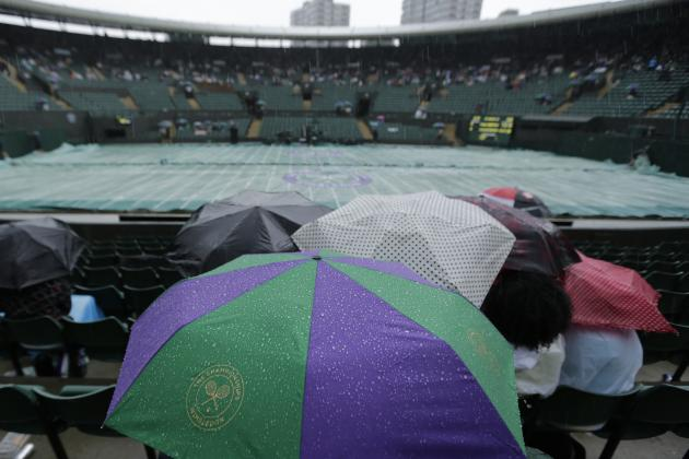Wimbledon 2014 Weather: Latest Schedule Info After Rain Suspends Play in London