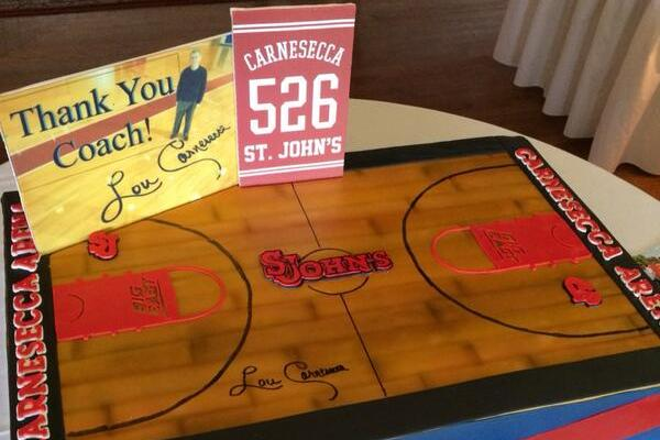Photo: Cake Honors Former St. John's Basketball Coach Lou Carnesecca