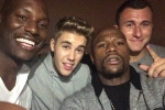 Manziel Parties with Mayweather, Bieber & Tyrese
