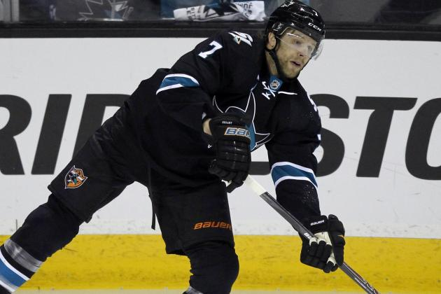 Avalanche Acquire Brad Stuart from Sharks for Picks