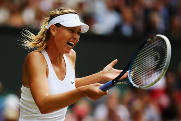 Maria Sharapova's 3rd-Set Magic Ends in Wimbledon Thriller vs. Angelique Kerber