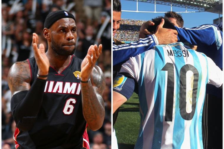 LeBron James Tweets Admiration of Lionel Messi's World Cup Assist