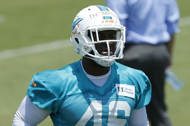 Dolphins Waive Rookie Linebacker Marcus Thompson